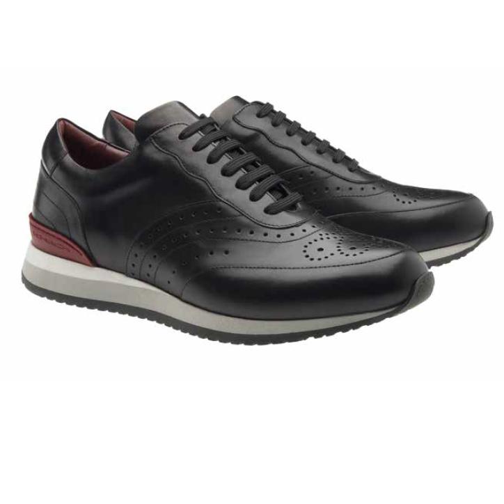 Moreschi Sparta Calfskin Sneakers Black Image