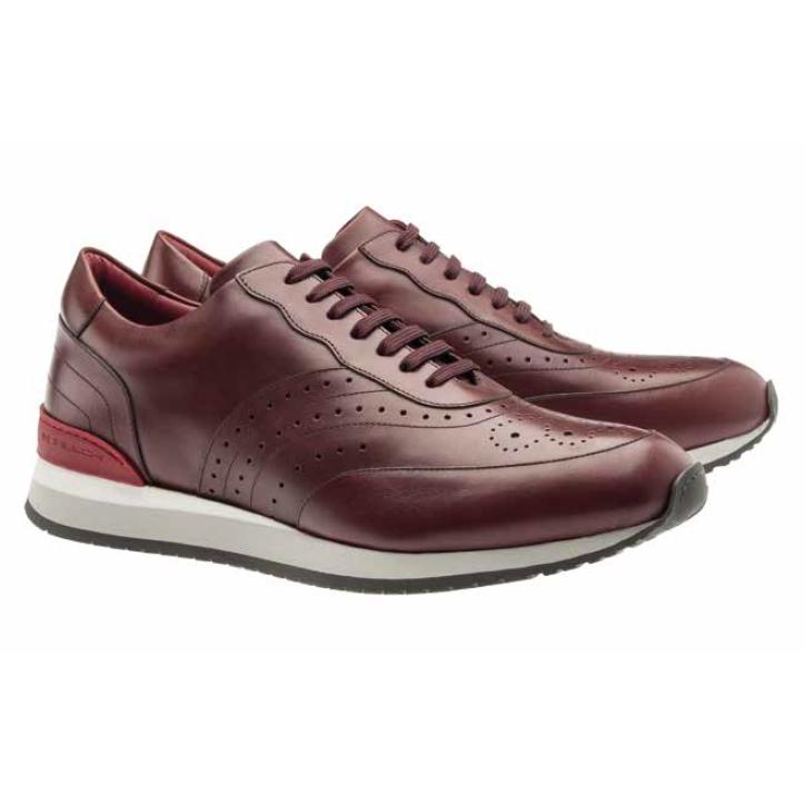 Moreschi Sparta Calfskin Sneakers Burgundy Image