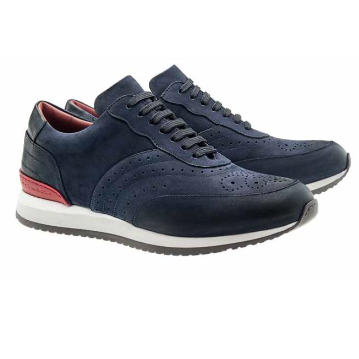 Moreschi Sparta Nubuck Sneakers Navy Image