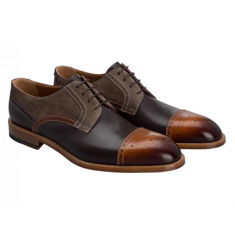 Moreschi 42189 Cap Toe Derby Shoes Brown (SPECIAL ORDER) Image