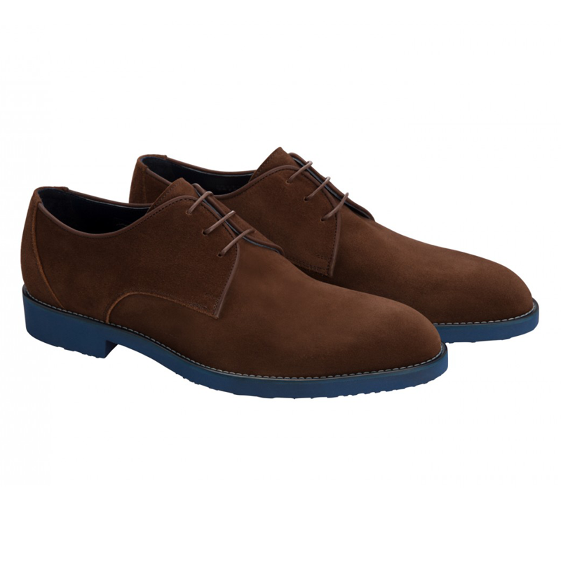 Moreschi 42132 Suede Derby Shoes Brown (SPECIAL ORDER) Image
