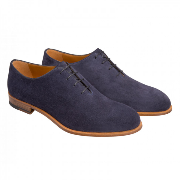Moreschi 042086ABC Suede Oxfords Blue (SPECIAL ORDER) Image