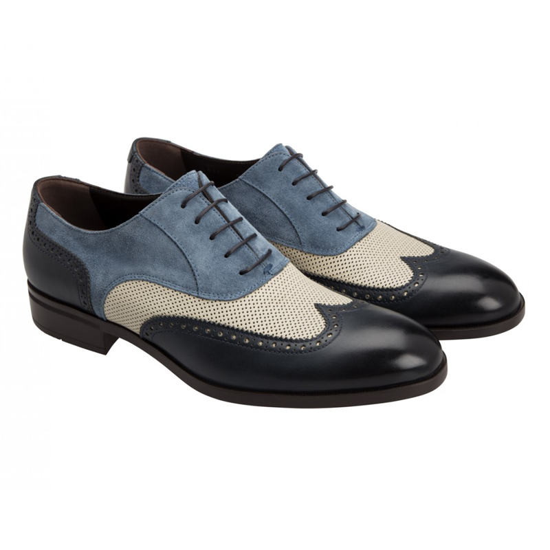 Moreschi 42160 Suede Oxford Multi-Coloured (SPECIAL ORDER) Image