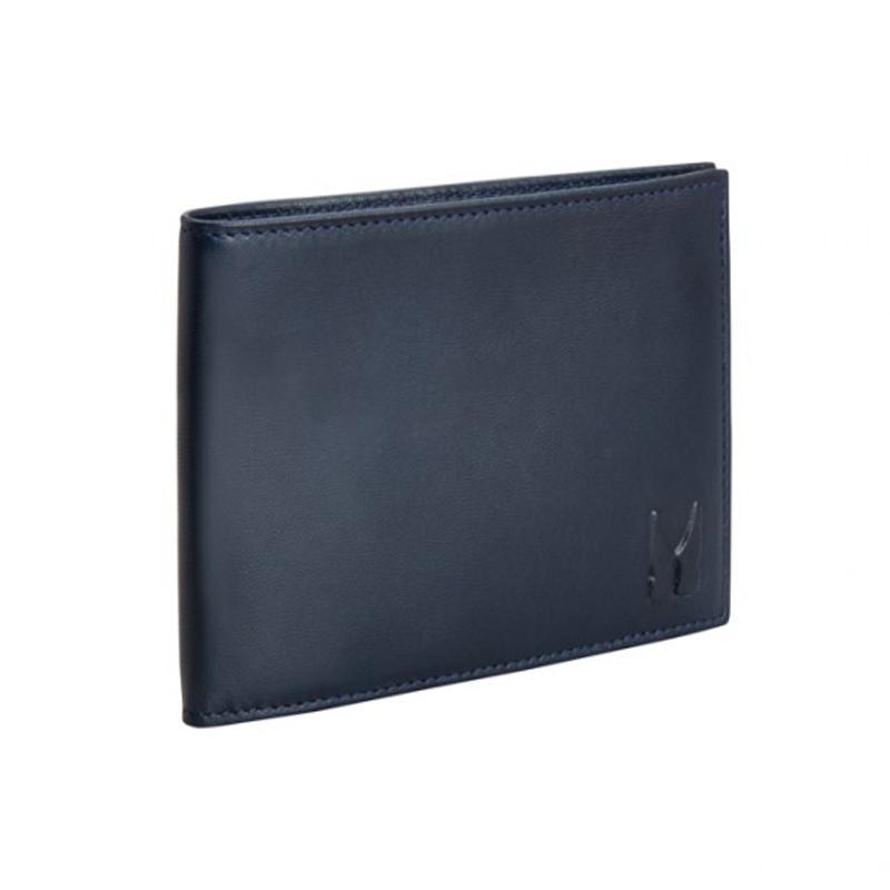 Moreschi Leather Horizontal Wallet Dark Blue Image