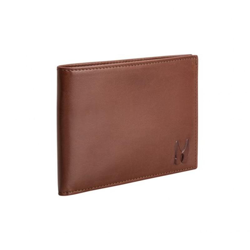 Moreschi Leather Horizontal Wallet Dark Brown Image