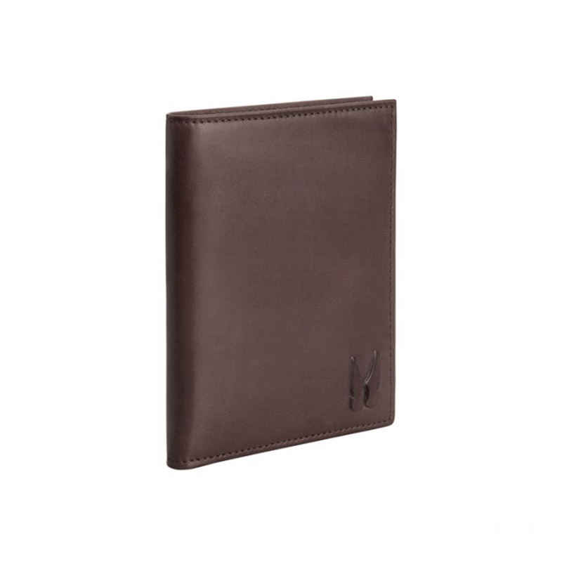 Moreschi Leather Vertical Wallet Brown Image