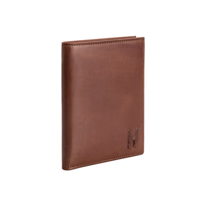 Moreschi Leather Vertical Wallet Light Brown Image