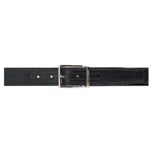 Moreschi Tobago Perforated Lambskin Belt Black Image