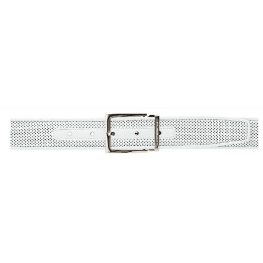 Moreschi Tobago Perforated Lambskin Belt White Image