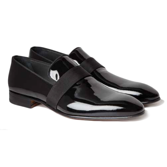 Moreschi Vienna Patent Loafers Black Image