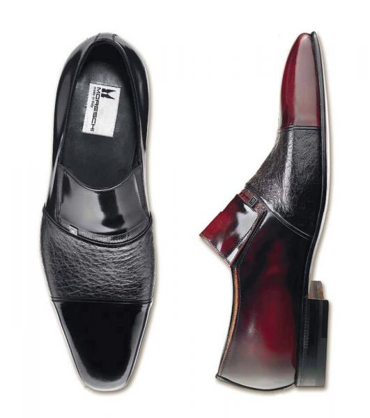 Moreschi Lugano II Peccary and Calfskin Shoes (Special Order) Image