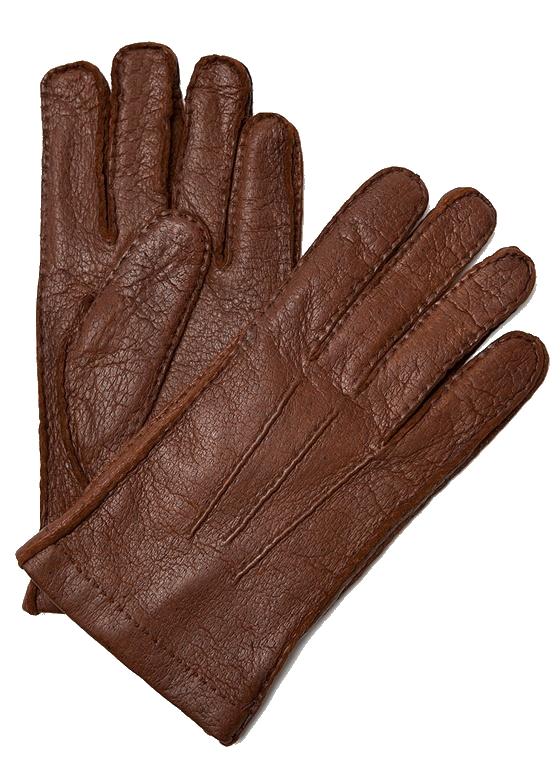 Moreschi Vail Genuine Peccary / Cashmere Gloves Tan Image