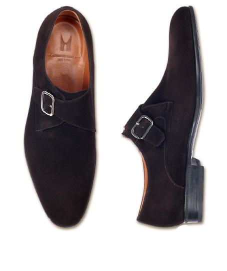 Santoni Monk Strap Shoe in Black for Men | Lyst