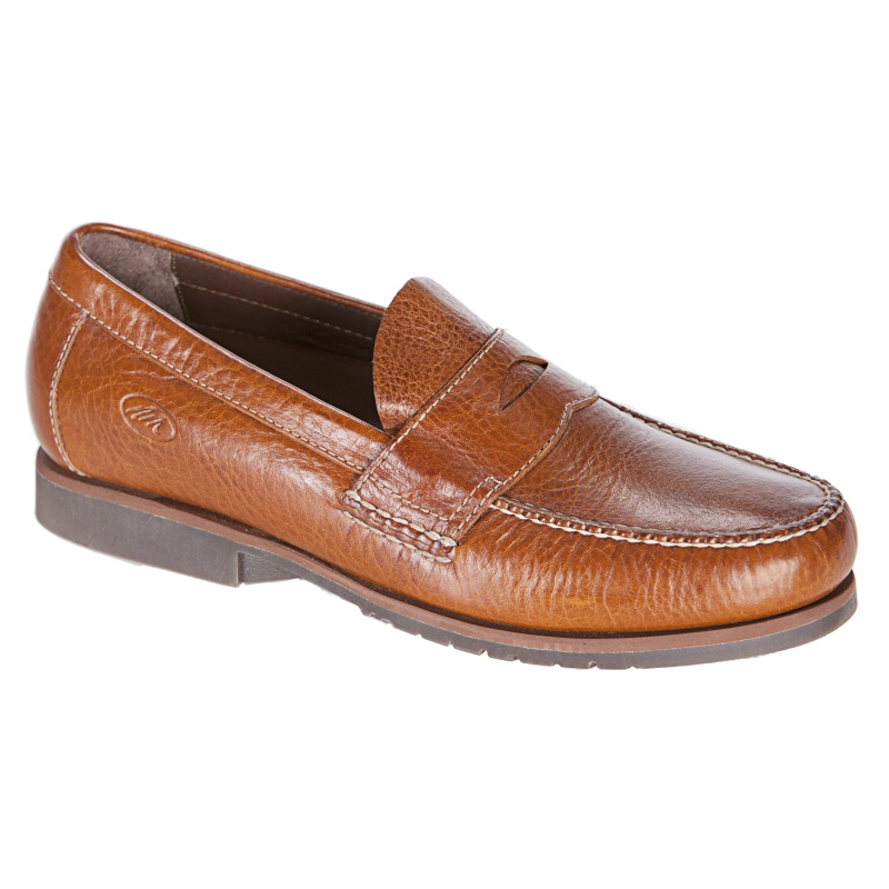 Neil M Kiawah Penny Loafers Boat Shoes Saddle Tan