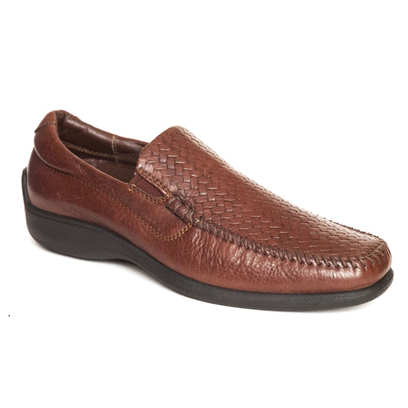 Neil M Palermo Woven Loafers Walnut Image