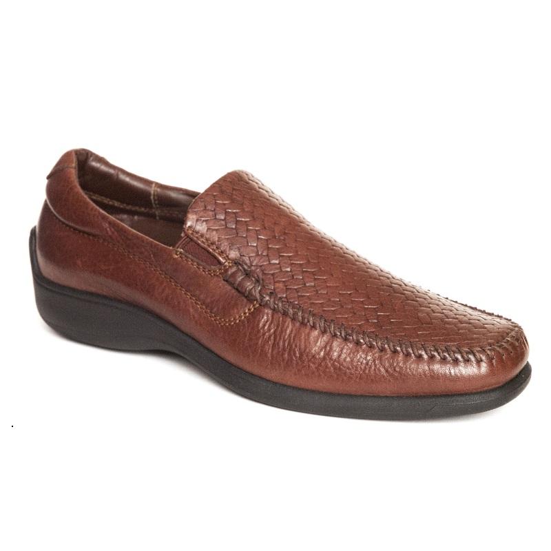 Neil M Palermo Woven Loafers Walnut