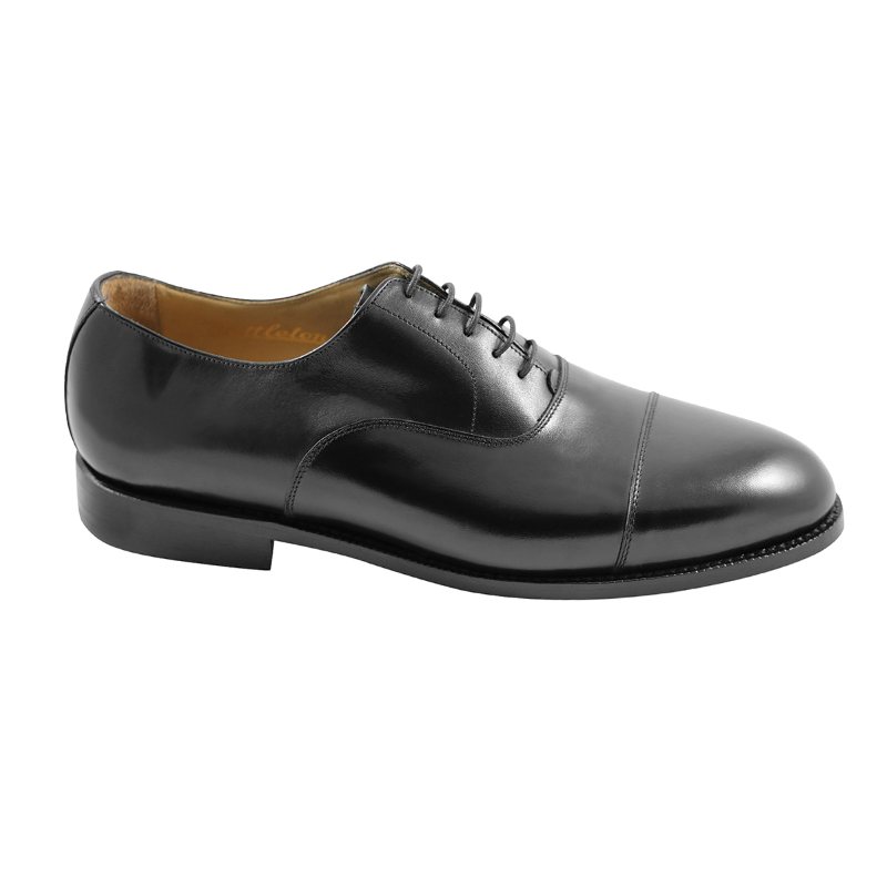 Nettleton Chesterfield Goodyear Welted Cap Toe Oxfords Black Image