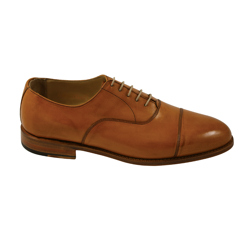 Nettleton Chesterfield Goodyear Welted Cap Toe Oxfords Whiskey Image