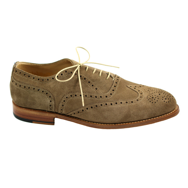 Nettleton Fayetteville Suede Goodyear Welted Wingtip Brogues Tan Image