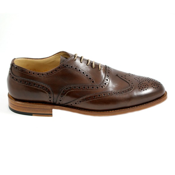 Nettleton Fayetteville Goodyear Welted Wingtip Brogues Ebano Image
