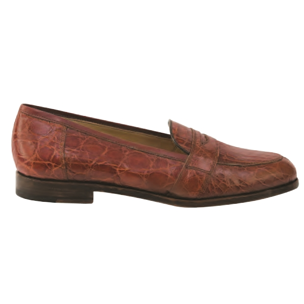 Nettleton Houston Genuine Crocodile Penny Loafers Chestnut Image