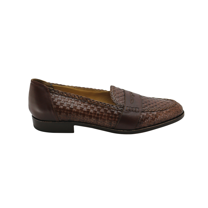 Nettleton Key West Woven Penny Loafers Brown Image
