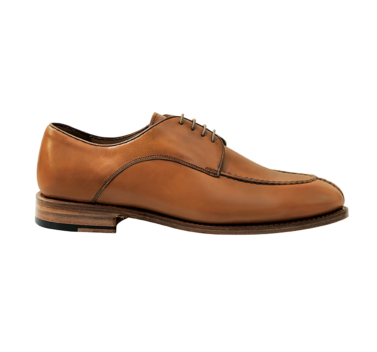 Nettleton Madison Goodyear Welted Moc Toe Derby Shoes Whiskey Image