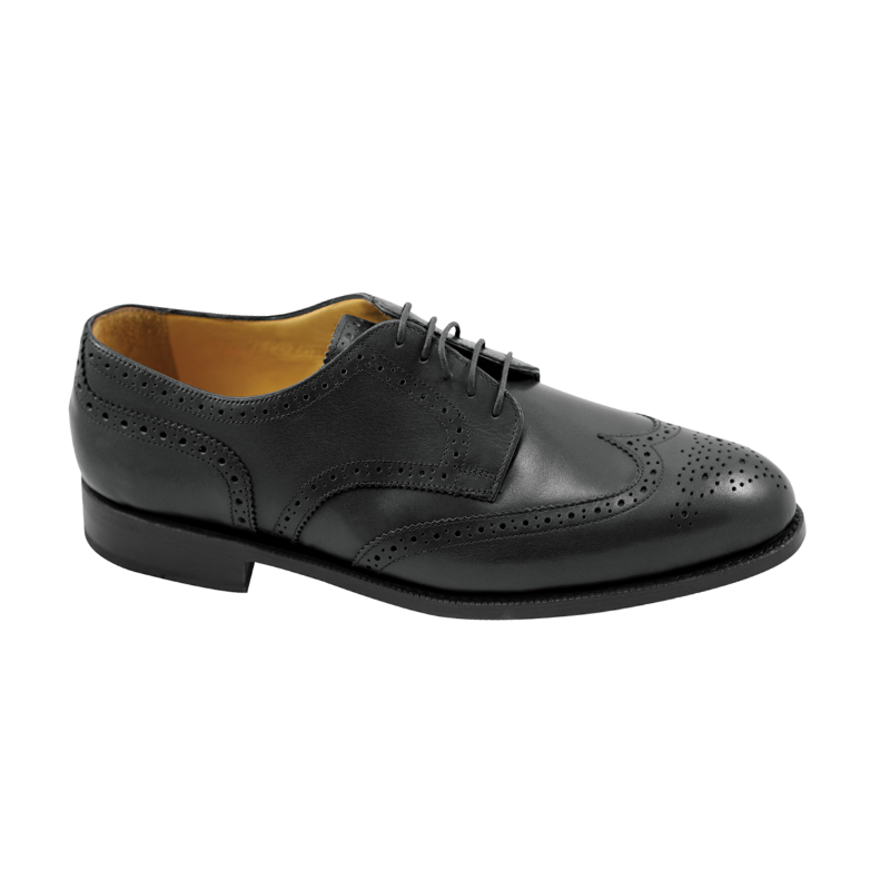 Nettleton Manchester Goodyear Welted Wingtip Brogues Black Image
