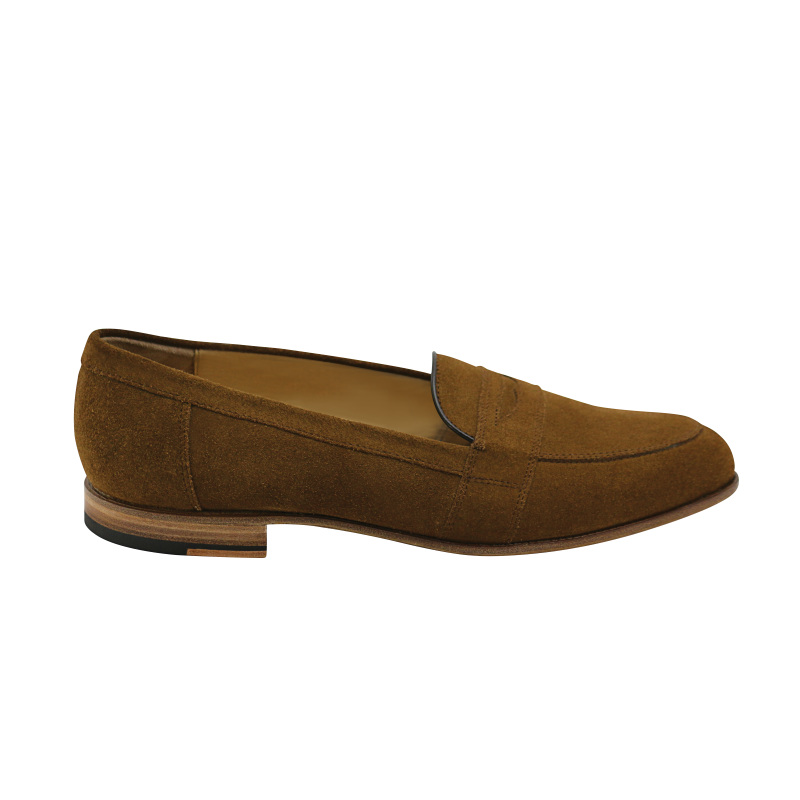 Nettleton New Orleans Suede Penny Loafers Tobacco Image