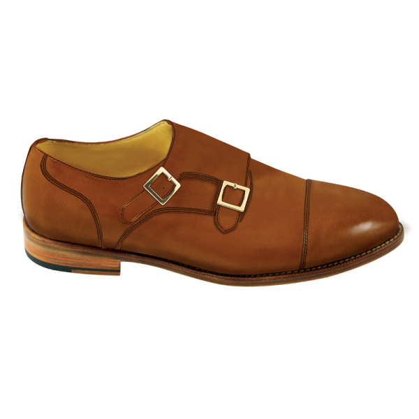Nettleton Sarasota Double Monk Strap Goodyear Welted Shoes Whiskey Image