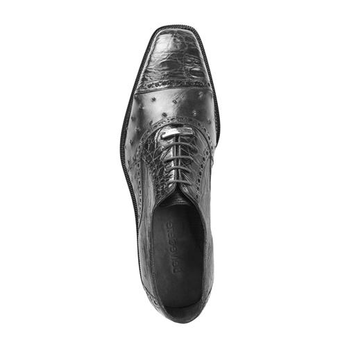 Belvedere Onesto II Ostrich/Crocodile Shoes Black Image