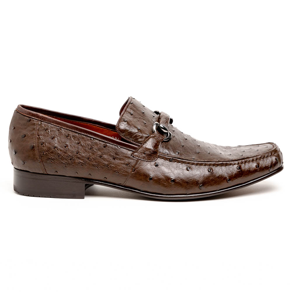 Los Altos Ostrich Quill Bit Loafers Brown Image