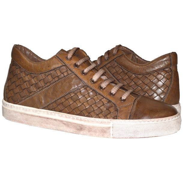 Paolo Shoes Carlo Woven Sneakers Moor Image