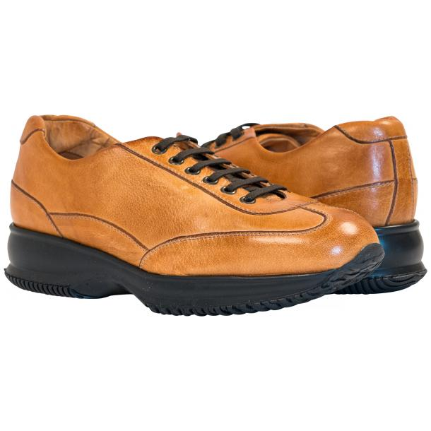 Paolo Shoes Harris Nappa Sneakers Brick Image