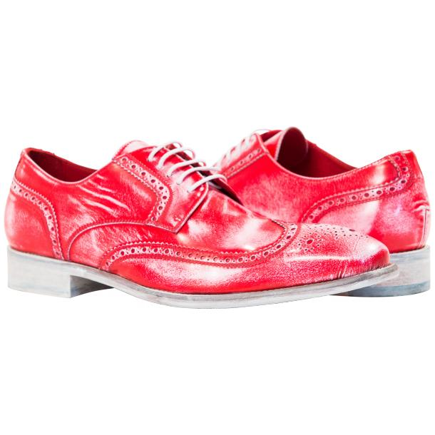 Paolo Shoes Isaac Nappa Wingtip Shoes Red Image