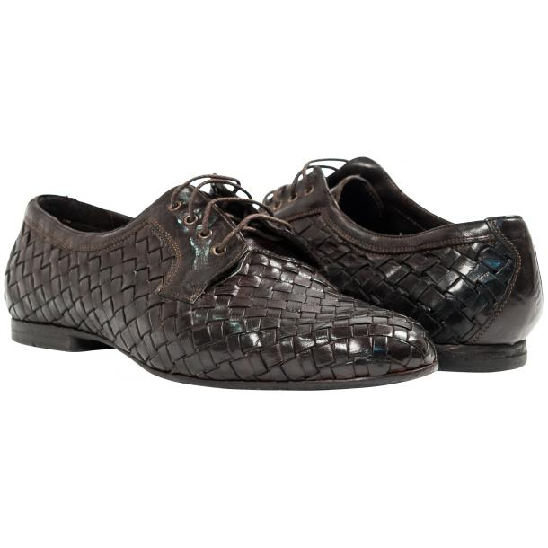 Paolo Shoes Kirk Woven Shoes Dark Brown Image