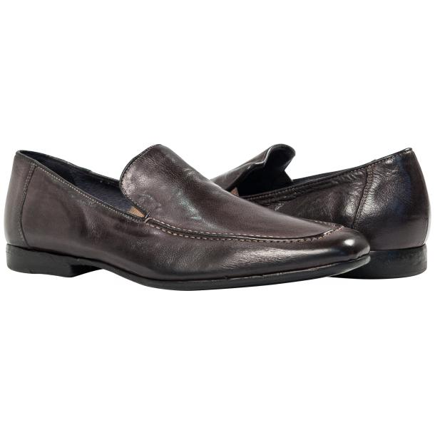 Paolo Shoes Les Nappa Loafers Dark Gray Image