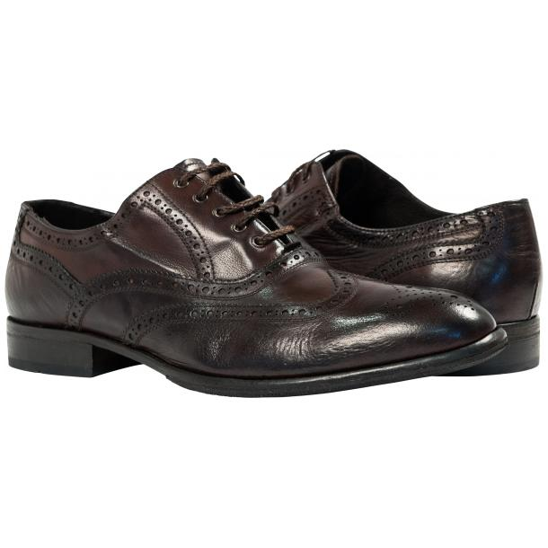 Paolo Shoes Mateo Wingtip Brogues Dark Brown Image