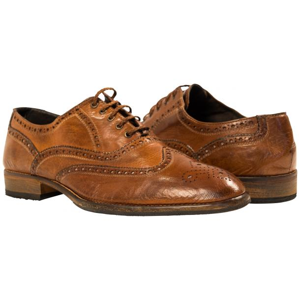 Paolo Shoes Mateo Wingtip Brogues Mahogany Image