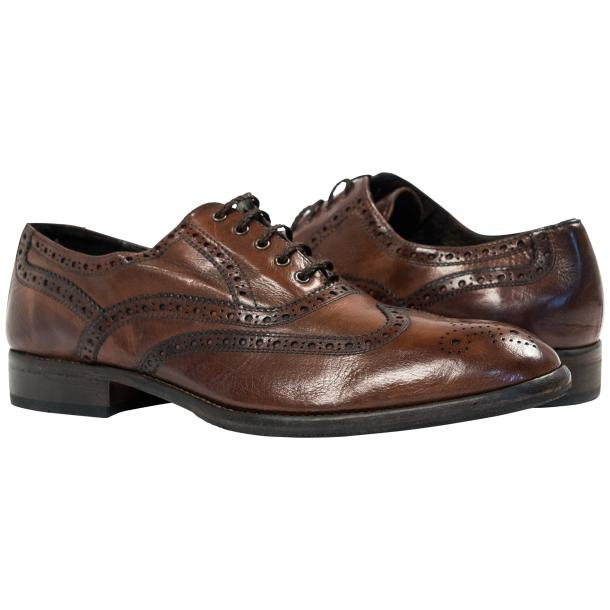 Paolo Shoes Mateo Wingtip Brogues Moor Brown Image