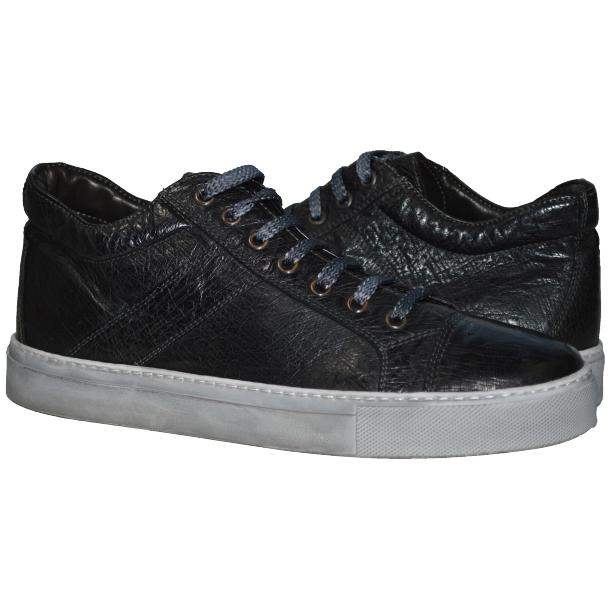 Paolo Shoes Neo Ostrich Sneakers Black Image