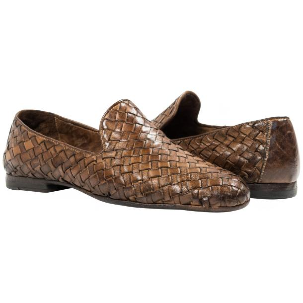 Paolo Shoes Scott Woven Loafers Moor Image