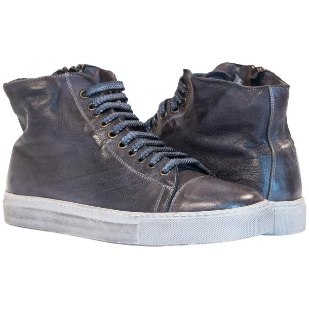 Paolo Shoes Shawn High Top Sneakers Dark Gray Image