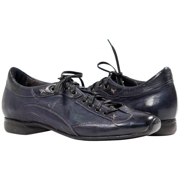 Paolo Shoes Turner Nappa Leather Sole Sneakers Denim Image