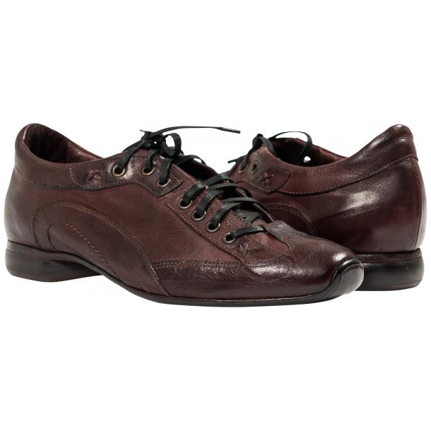 Paolo Shoes Turner Nappa Leather Sole Sneakers Oxblood Image
