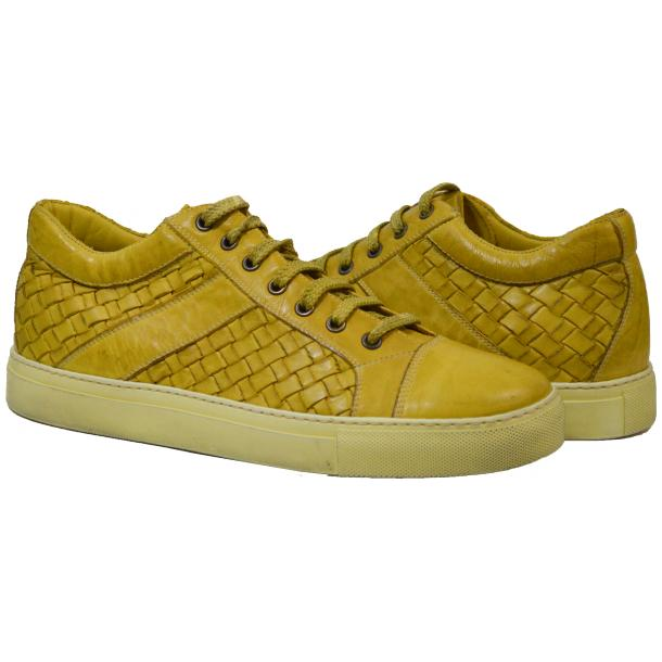 Paolo Shoes Tyler Woven Sneakers Yellow Image