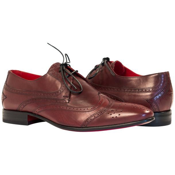 Paolo Shoes Tim Wingtip Derby Shoes Bordeaux Image