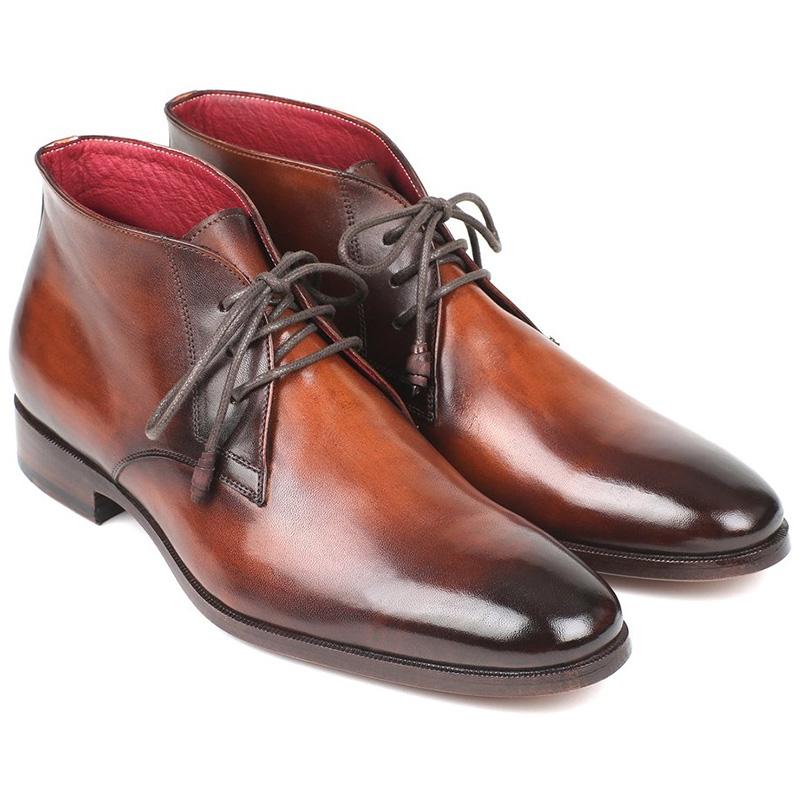 Paul Parkman Calfskin Chukka Boots Camel & Brown Image