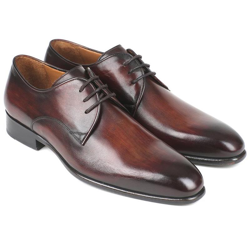 Paul Parkman Calfskin Derby Shoes Antique Brown Image