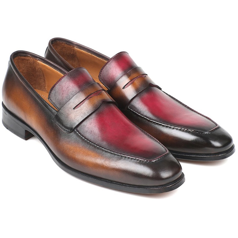 Paul Parkman Calfskin Loafers Brown & Bordeaux Image